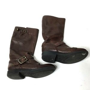 FRYE Kid's Brown Veronica Slouch Girls Boots 12.5